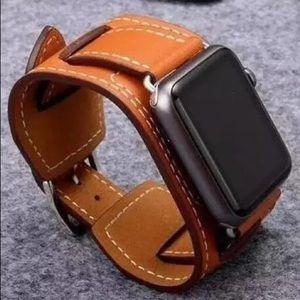Other - 🔥final sale price BLACK Leather Apple Watch wrist